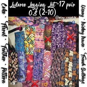 Lularoe Disney | 17 Pairs OS Pattern Leggings